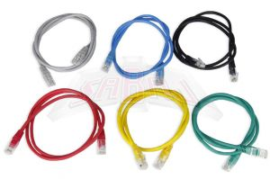 Patchcord cat 5e RJ45 0,5 m - Kolor CZARNY