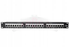 "Patch Panel do szaf rack 19"" 24x FTP Cat6e z ekranowaniem 19-0015"